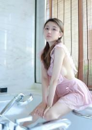 性感粉嫩美女夏西CiCi粉色女仆装穿